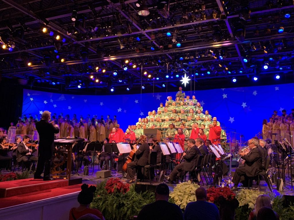 Epcot Candlelight Processional choir