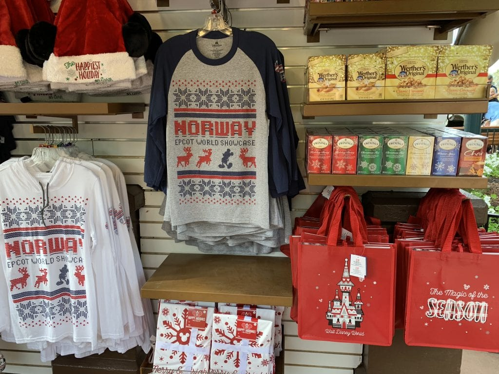Epcot Norway Christmas merchandise