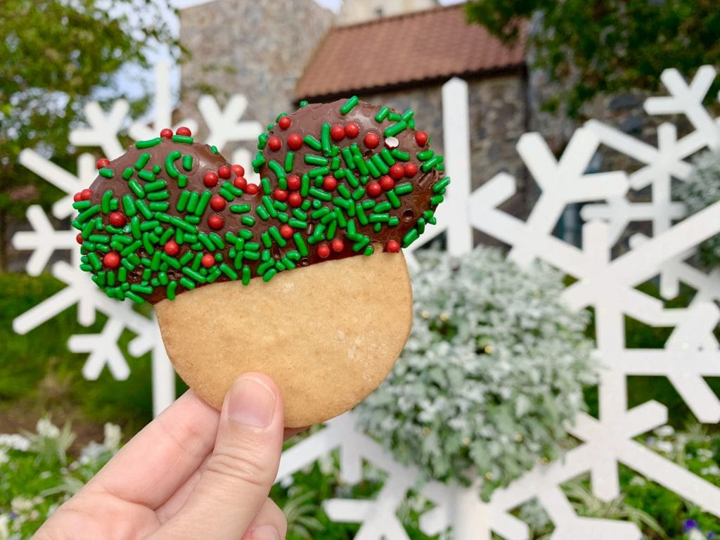 Mickey Mouse Shaped Sugar Christmas Cookie Epcot Holiday Cookie Stroll