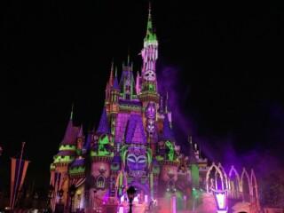 Villains after Hours stage show Cinderella castle