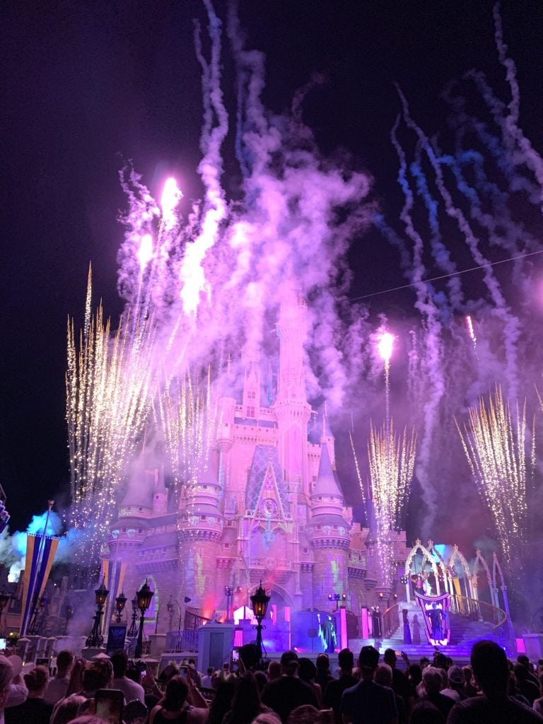 Villains After Hours Fireworks show Cinderella Castle