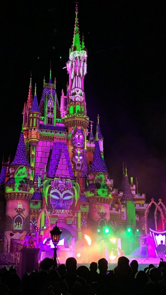 Villains After Hours Unite the Night Stage Show Magic Kingdom Castle