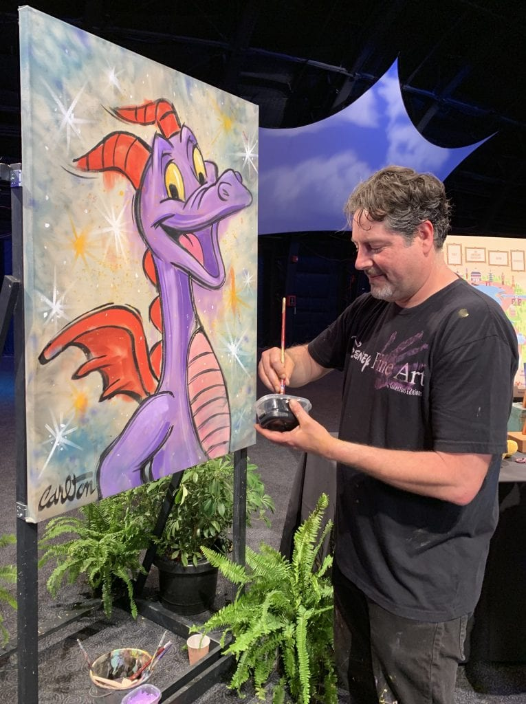 epcot disney artist painting figment