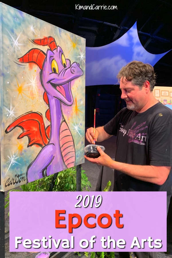 disney artist painting figment at Epcot festival of the arts disney world