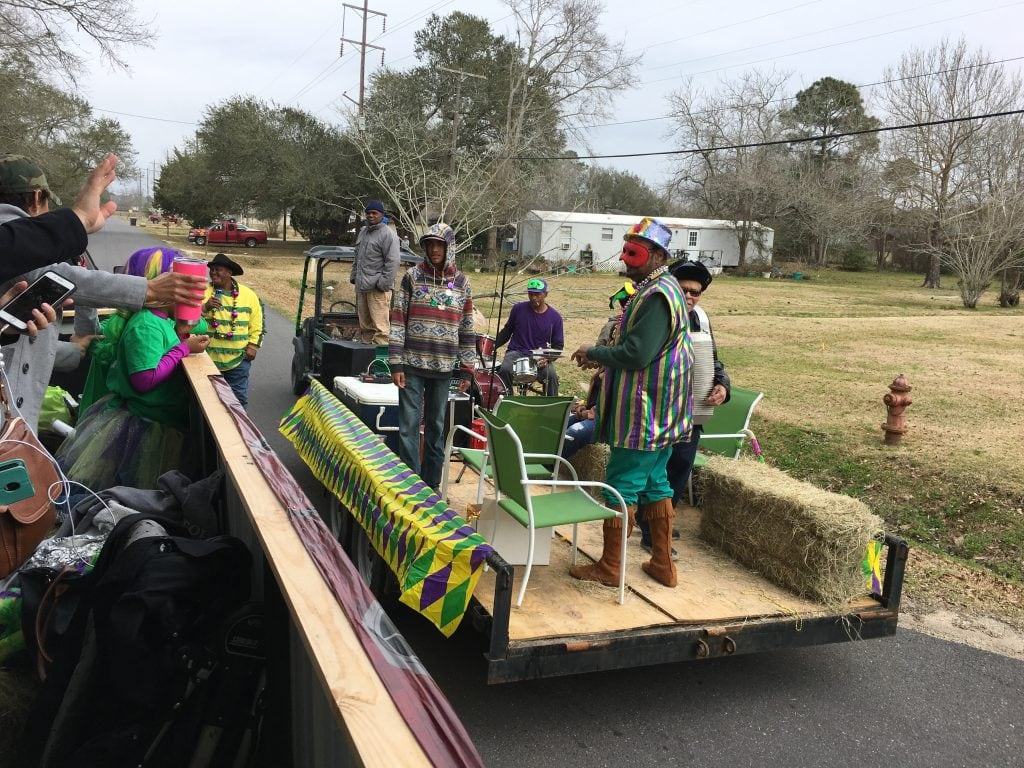 Iowa Chicken Run Hay Ride Float Lake Charles Mardi Gras