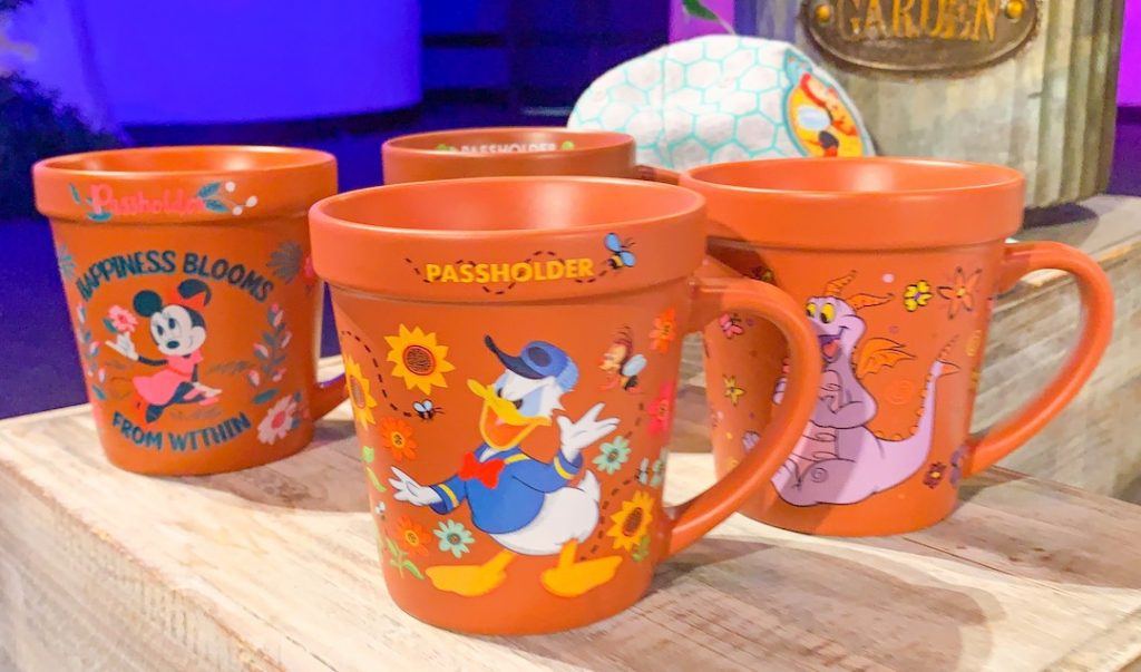 pass holder exclusive terra cotta pot mugs Epcot flower and garden festival
