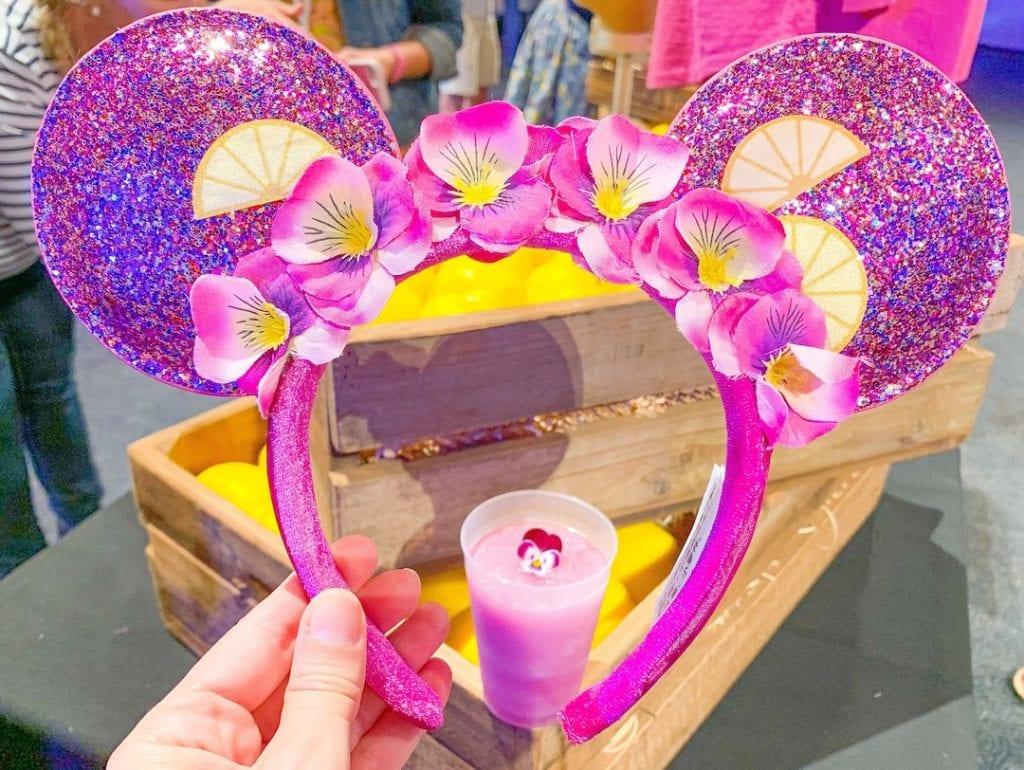 purple Mickey Mouse ears violet lemonade Epcot flower and garden festival