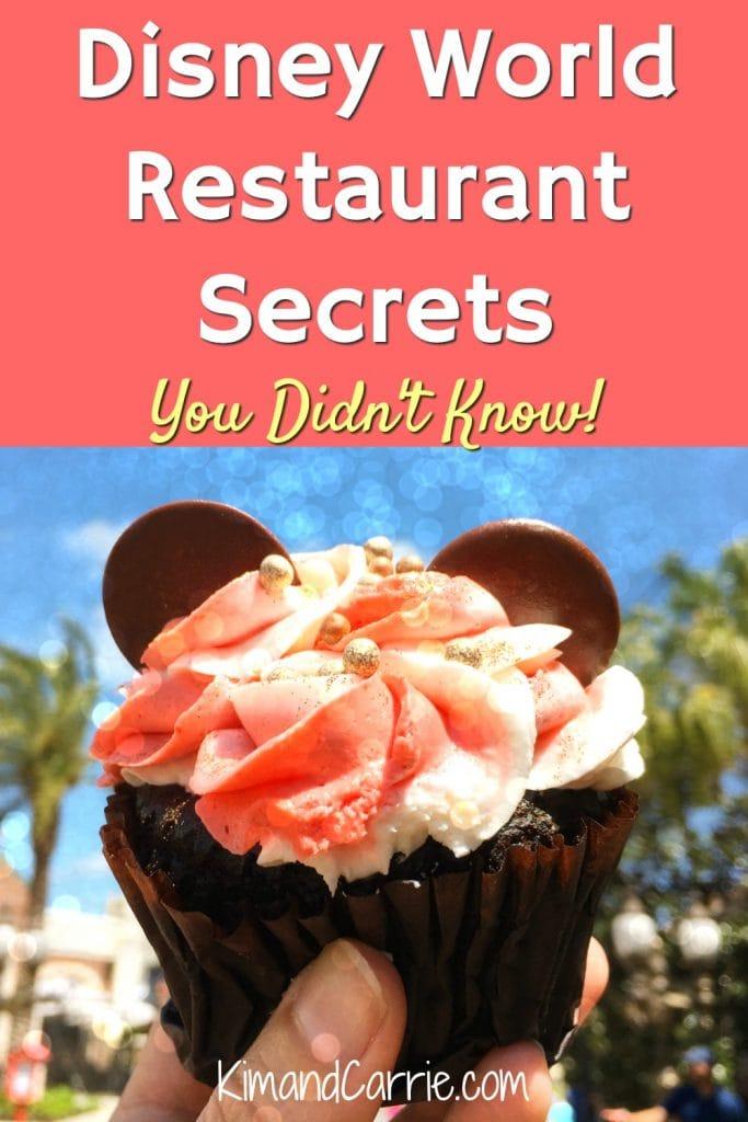 Mickey Mouse cupcake Walt Disney World restaurants