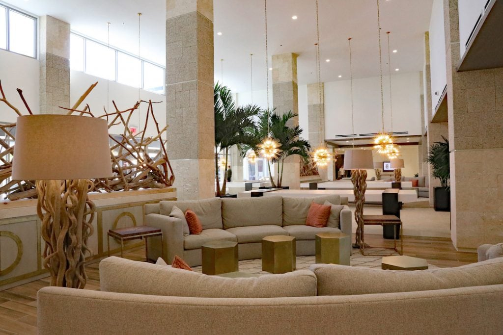 Embassy Suites St. Augustine Beach Oceanfront Resort lobby