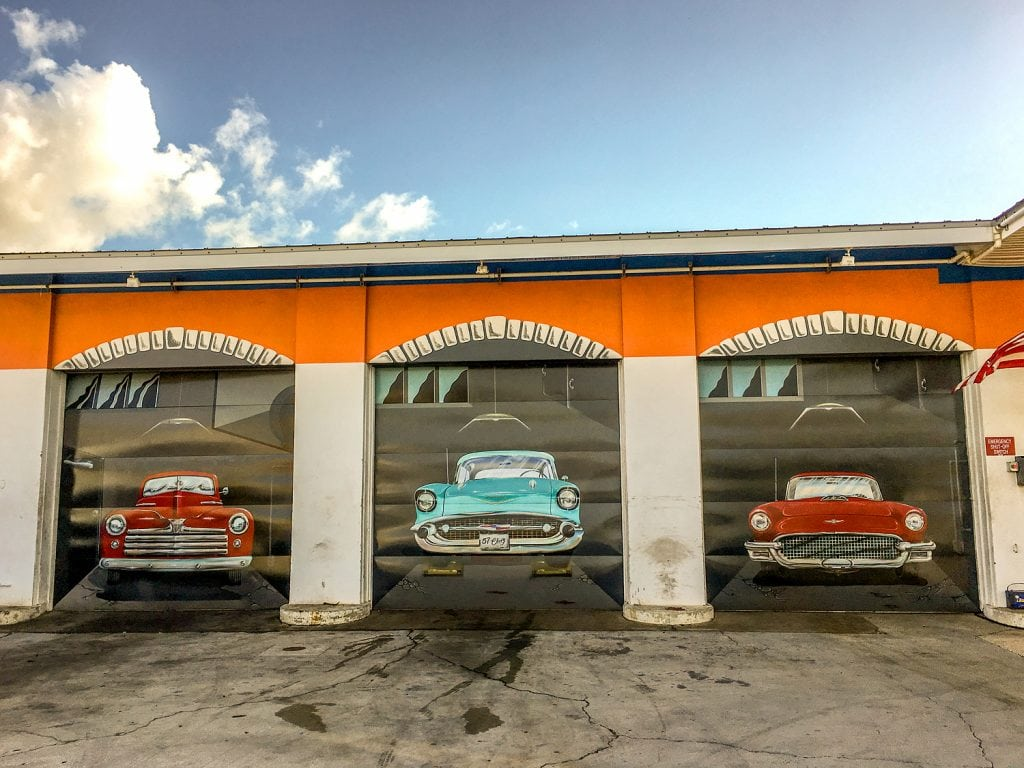 punta gorda mural old cars