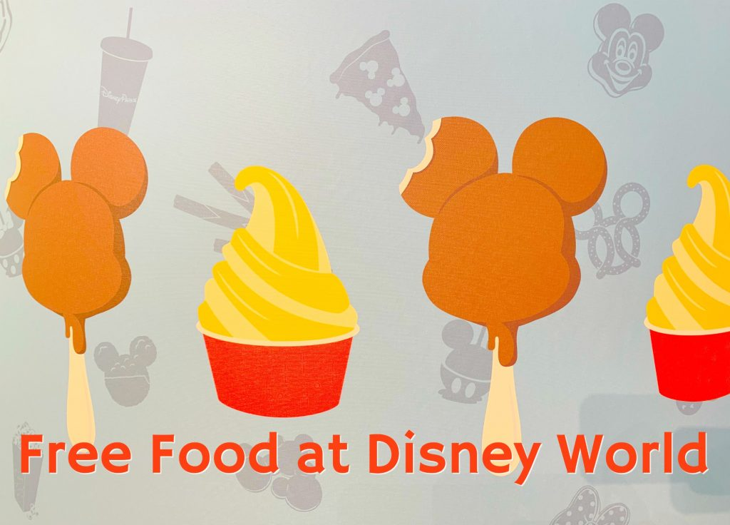 Mickey Ice cream bar dole whip free food disney world