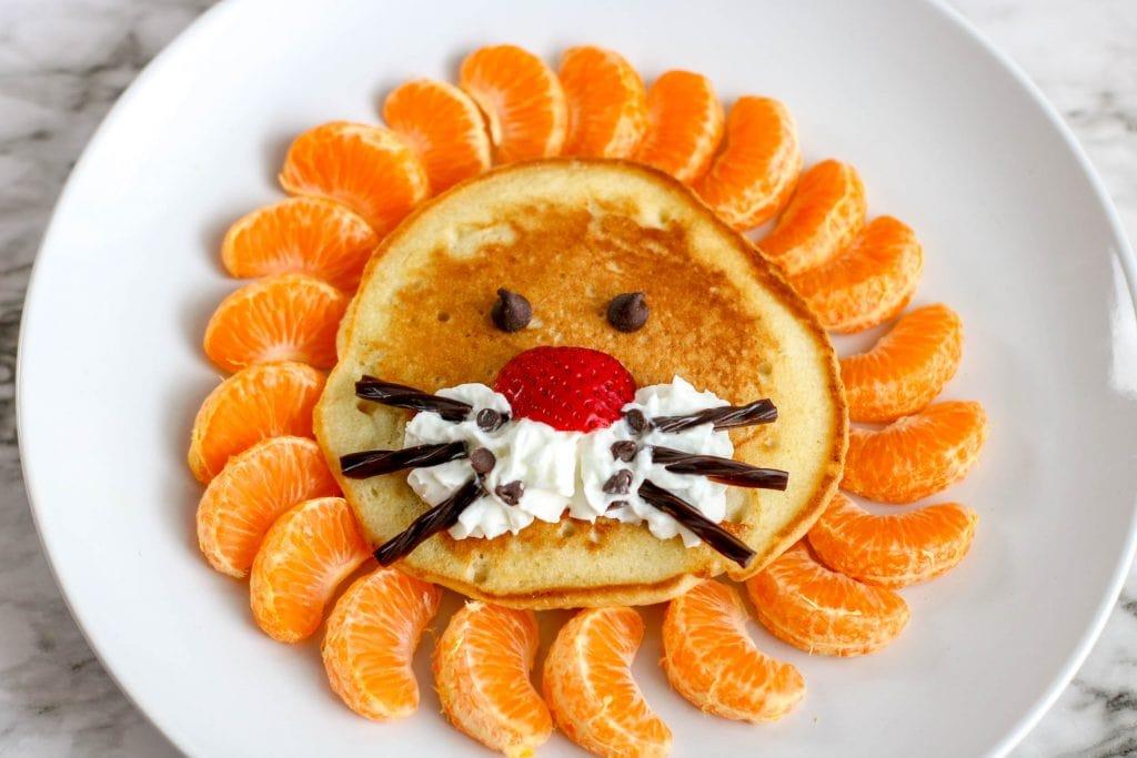 pancake that looks like a lion