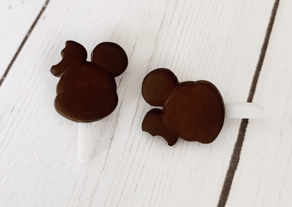 disney Mickey Mouse ice cream bar earrings on white background