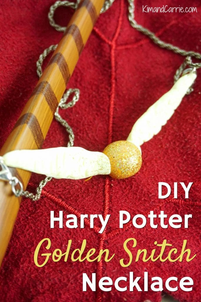 Golden Snitch DIY Necklace Harry Potter Crafts
