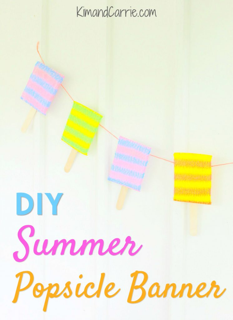 Summer Popsicle Banner Party DIY