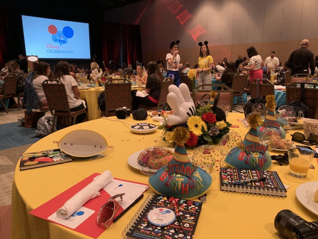 Disney Social Media Celebration tables