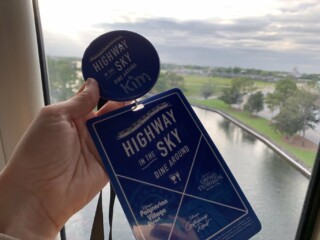Disney World Highway in the Sky Dine Around Progressive Dinner badges