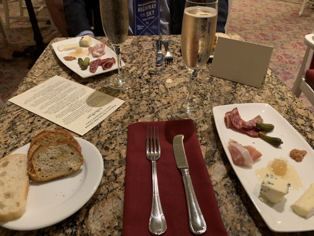 Disney World Highway in the Sky Dine Around Progressive Dinner charcuterie cheese course