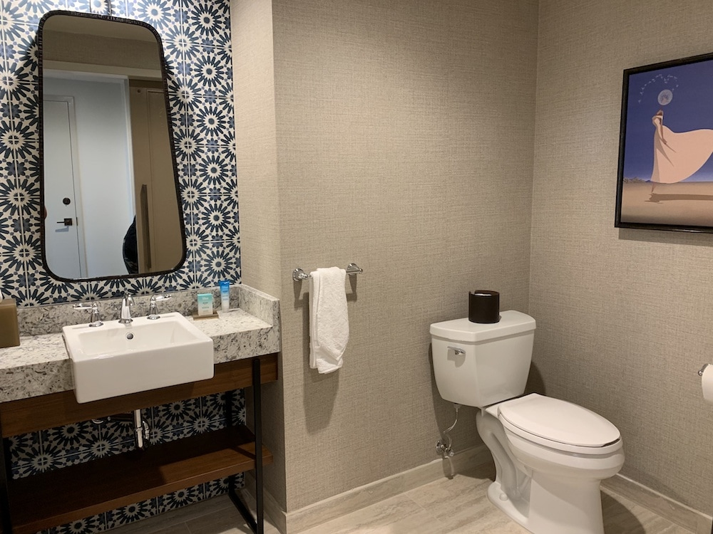 Gran Destino Tower Club Level Suite Half Bathroom