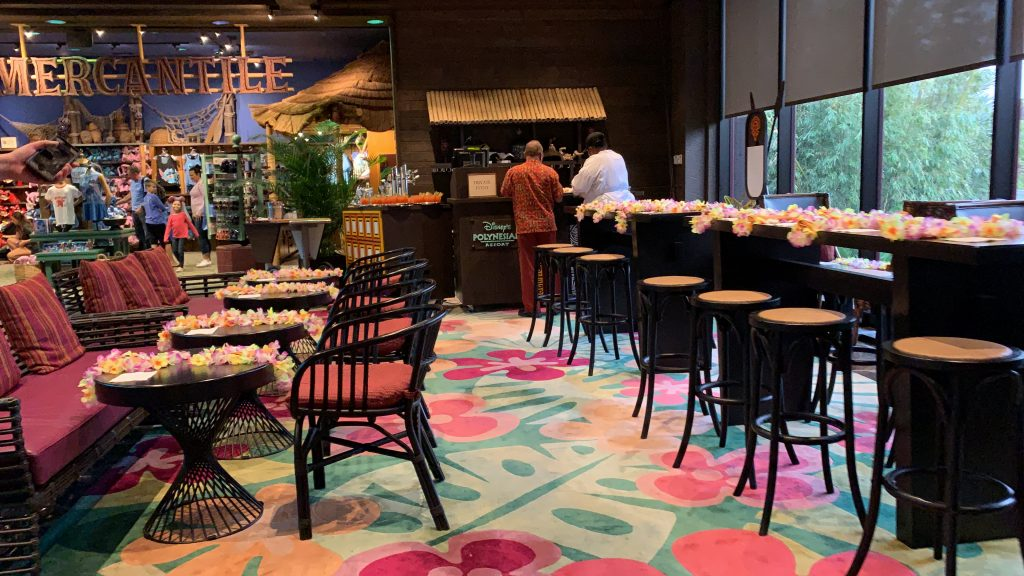 Disney World Highway in the Sky Dine Around Progressive Dinner Polynesian Resort Tables