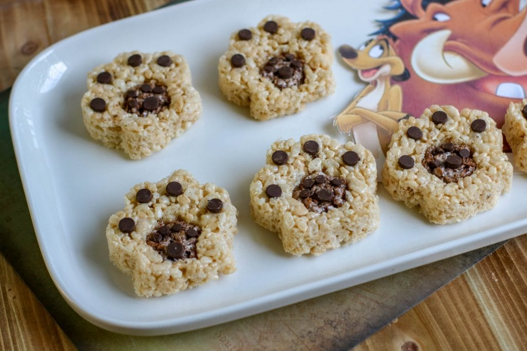 lion paw Rice Krispies treat snacks