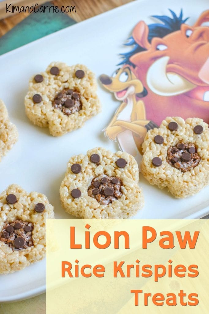 lion paw print snacks made from rice krispies treats The Lion King