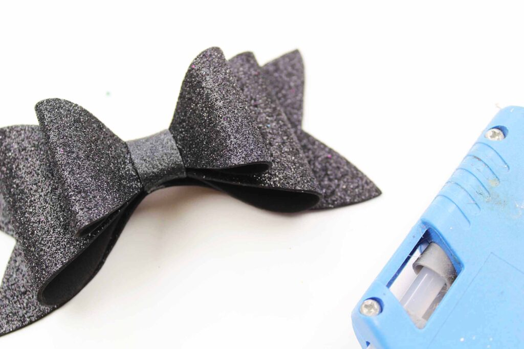 black foam bow for Mickey Mouse headband