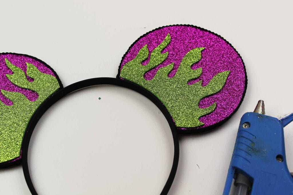 purple maleficent Mickey Mouse ears diy project