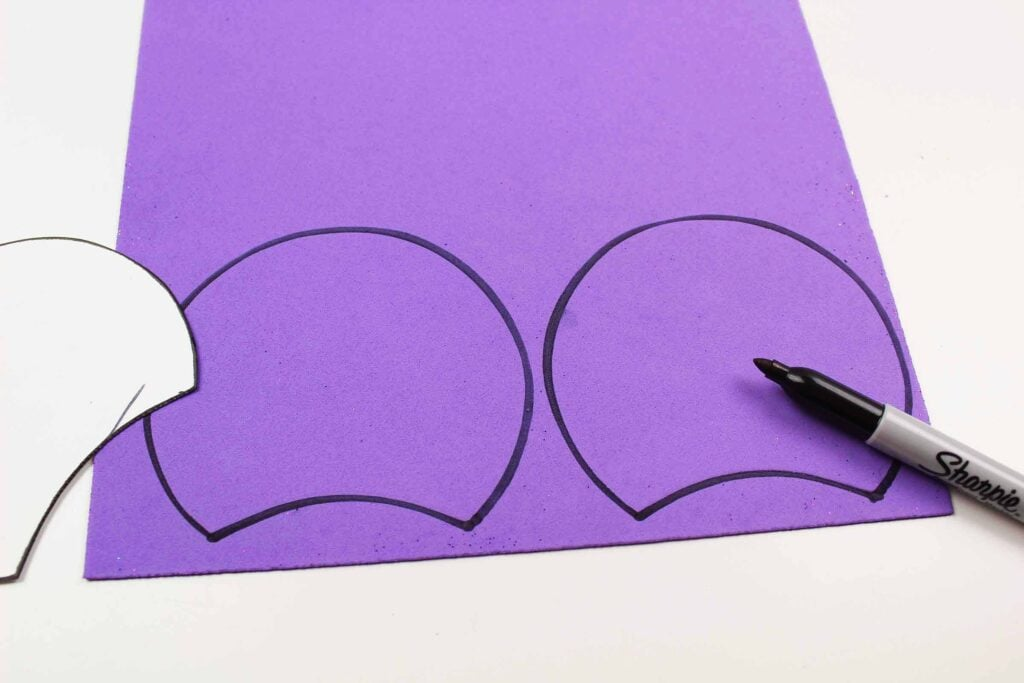 purple Mickey Mouse ears template