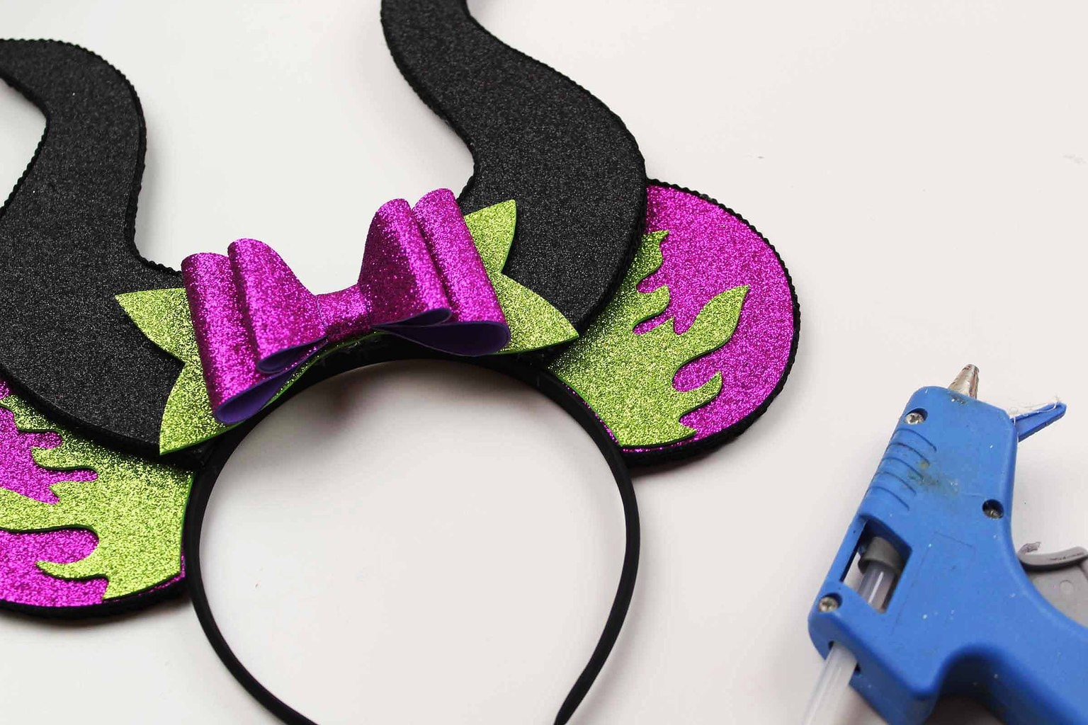 Maleficent Horns Diy Tutorial Mickey Mouse Ears Kim And