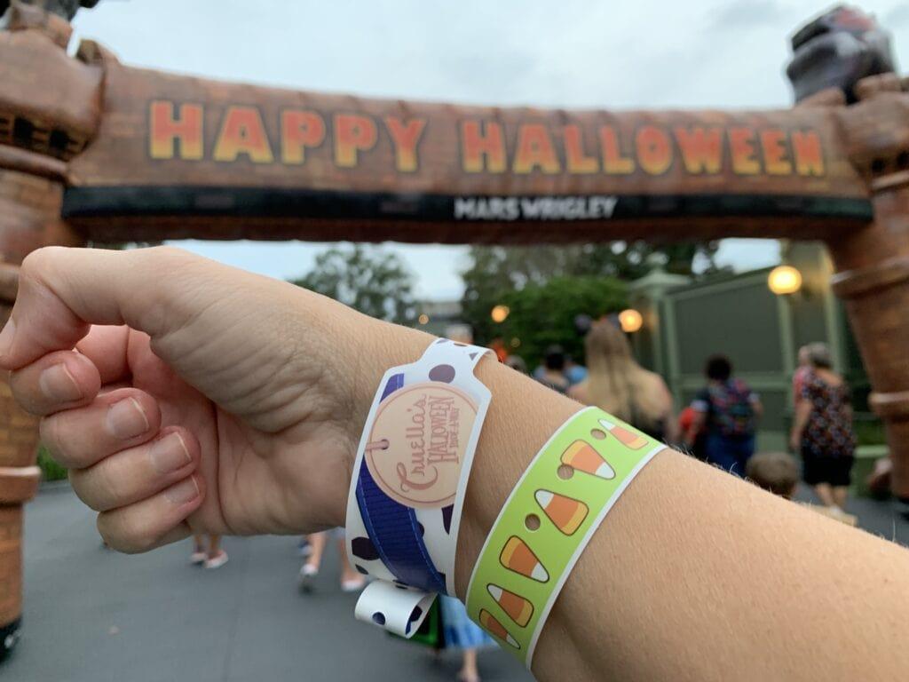 halloween party ticket wrist bands mickeys not so scary magic kingdom disney world