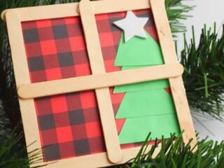 Christmas Window with Tree Craft