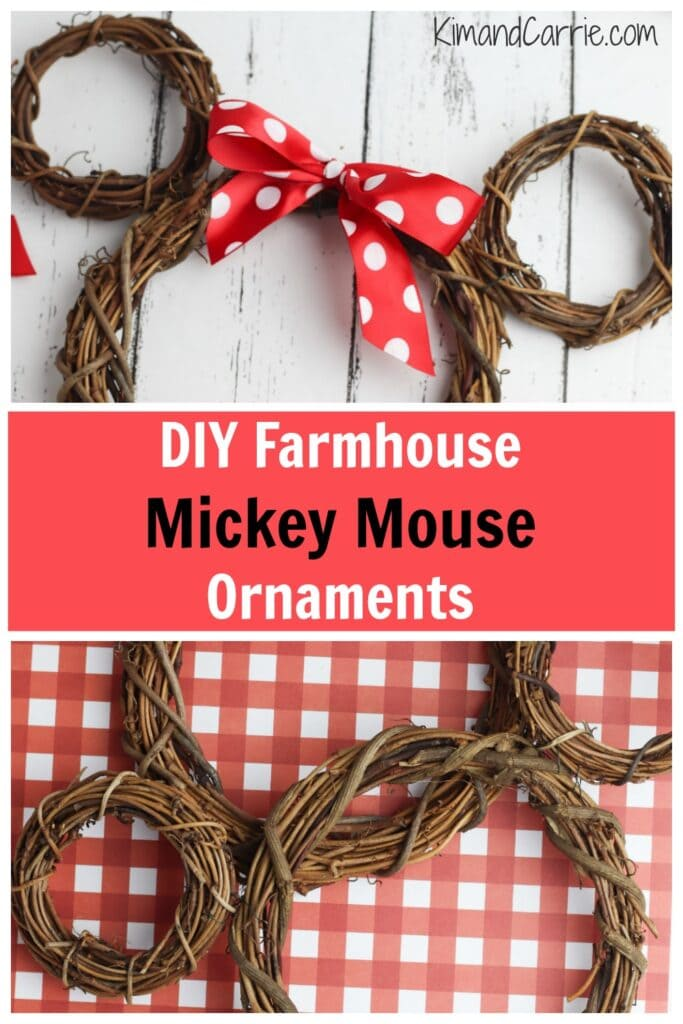 Mickey Mouse grapevine wreaths farmhouse decor