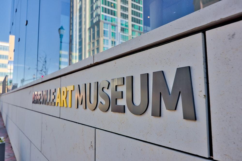 Asheville art museum sign