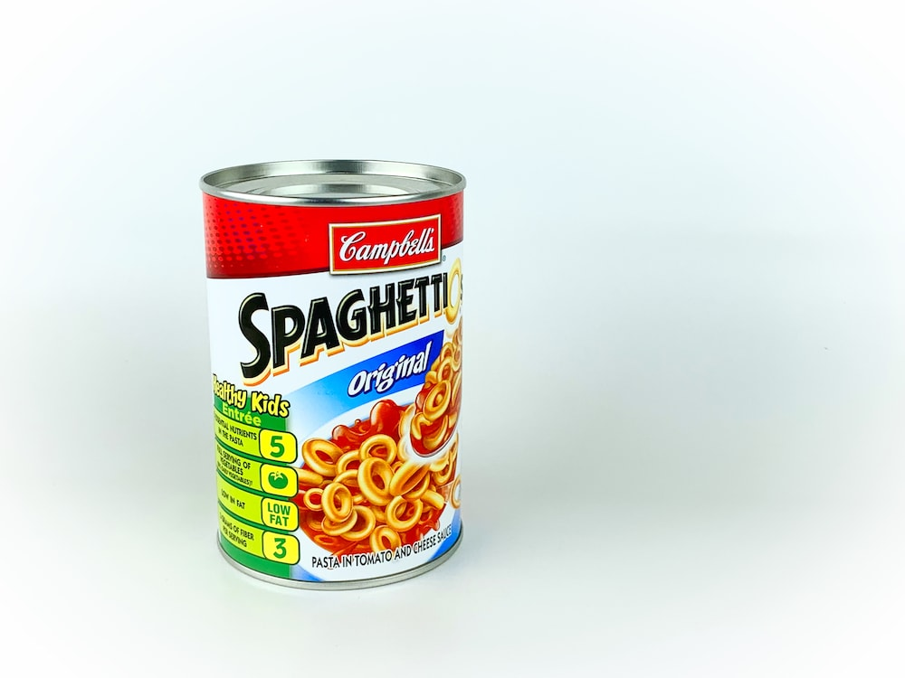 spaghettios soup can best gag gift