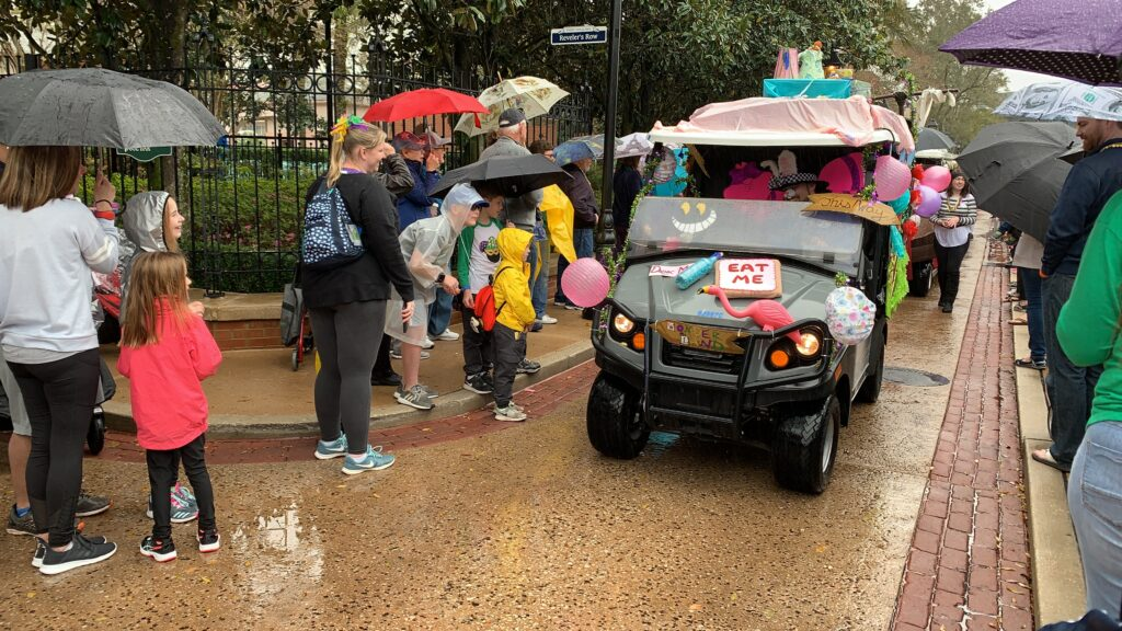 Disney mardi gras parade port Orleans resort French quarter