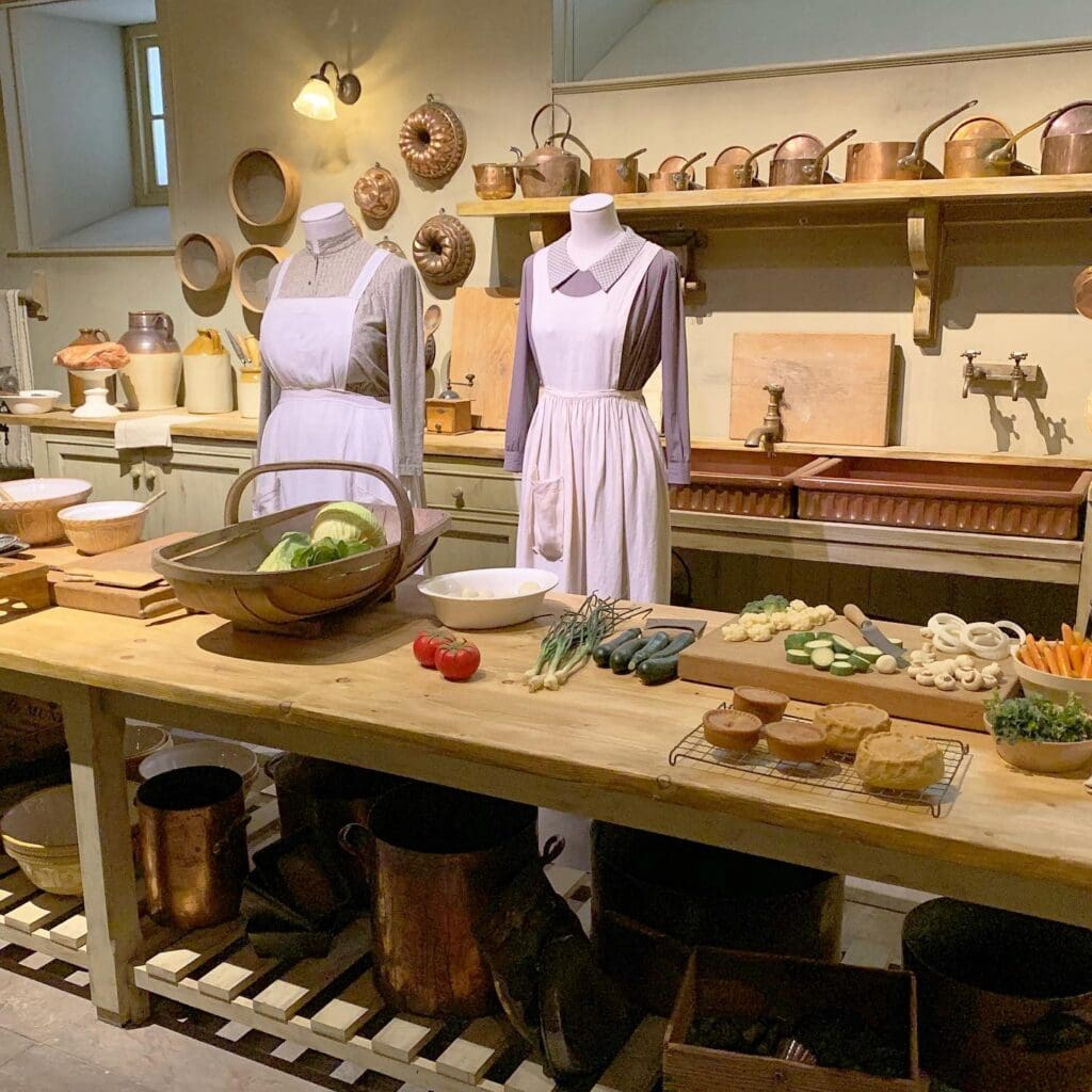 downton abbey kitchen from tv show at Biltmore estate exhibit