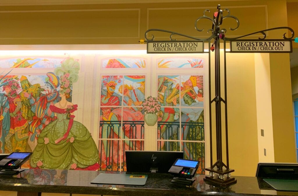 port Orleans French quarter lobby check in