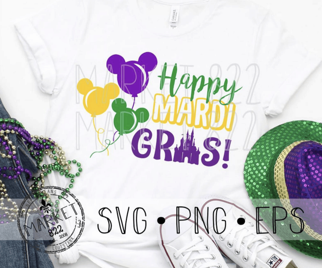 Mardi Gras Disney SVG fille on shirt