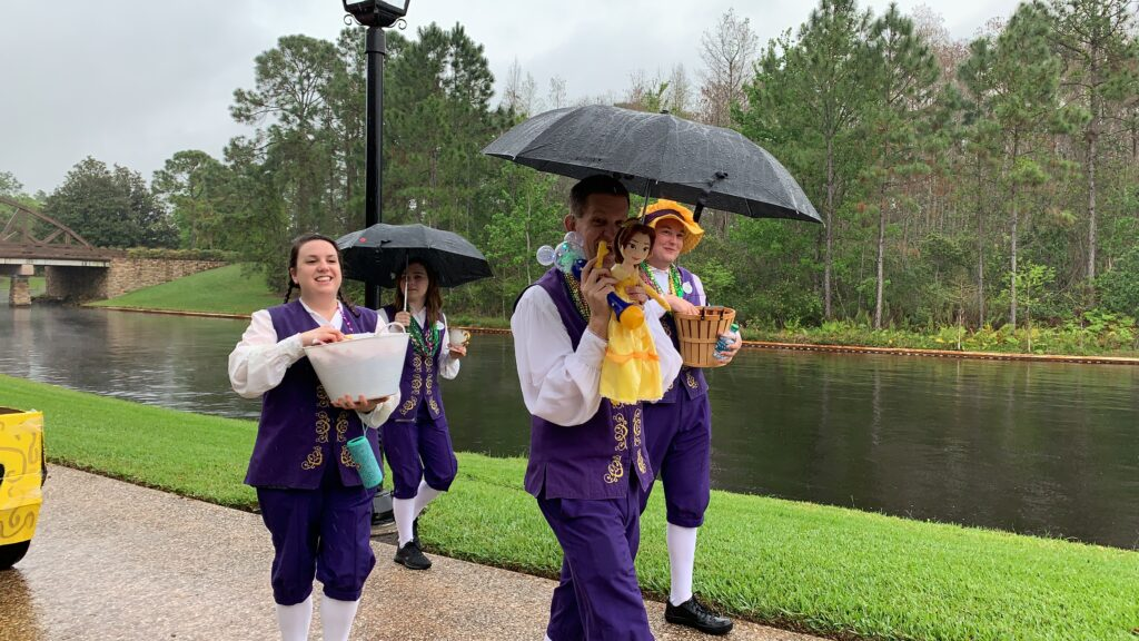 disney cast members in port Orleans Mardi Gras parade