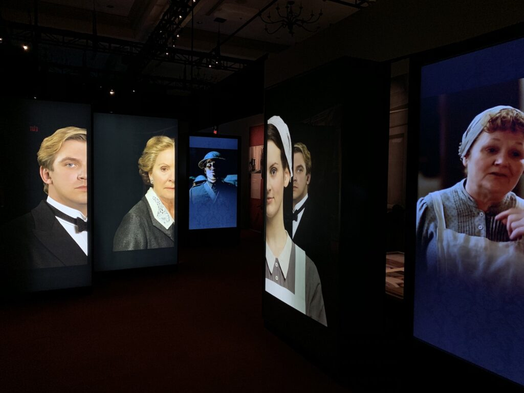 downton abbey characters in Biltmore estate exhibit