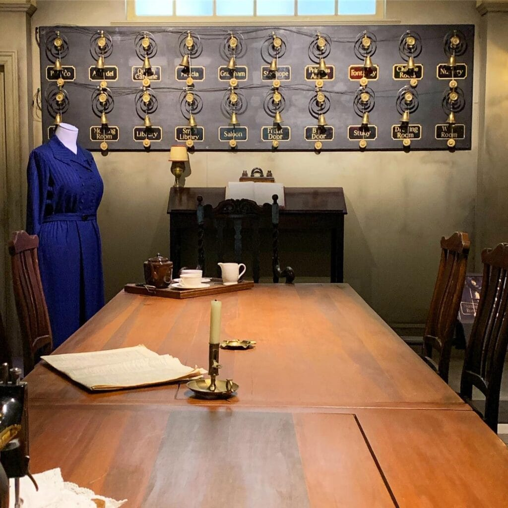 Biltmore downton abbey exhibit servants room with ringing bells