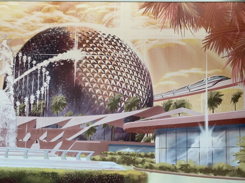 epcot design with monorail
