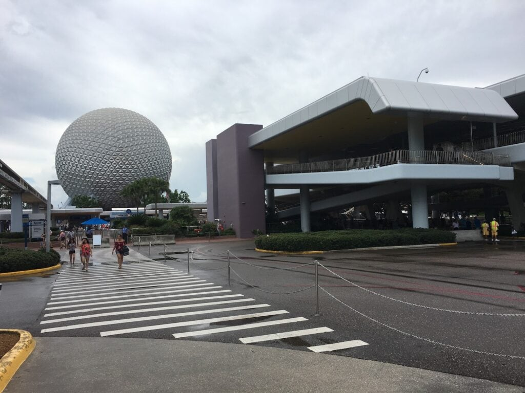 monorail station at epcot theme park