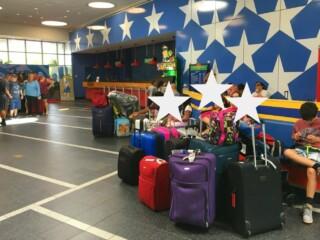 luggage at Disney hotel