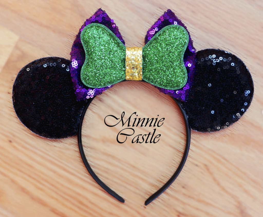Disney Mardi Gras ears Minnie Mouse headband