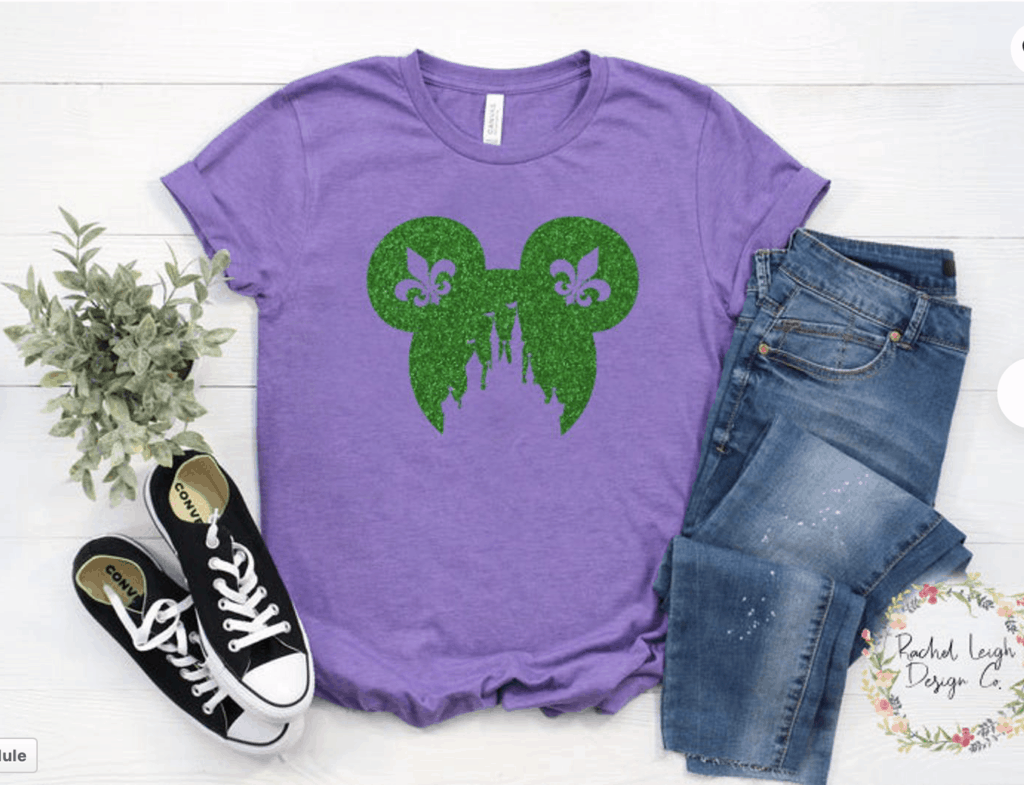 purple Mickey Mouse mardi gras t-shirt