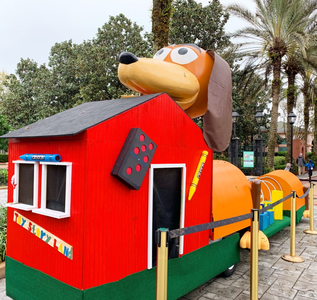 slinky dog toy story parade float