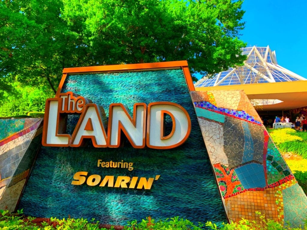 the land pavilion sign at Walt Disney World