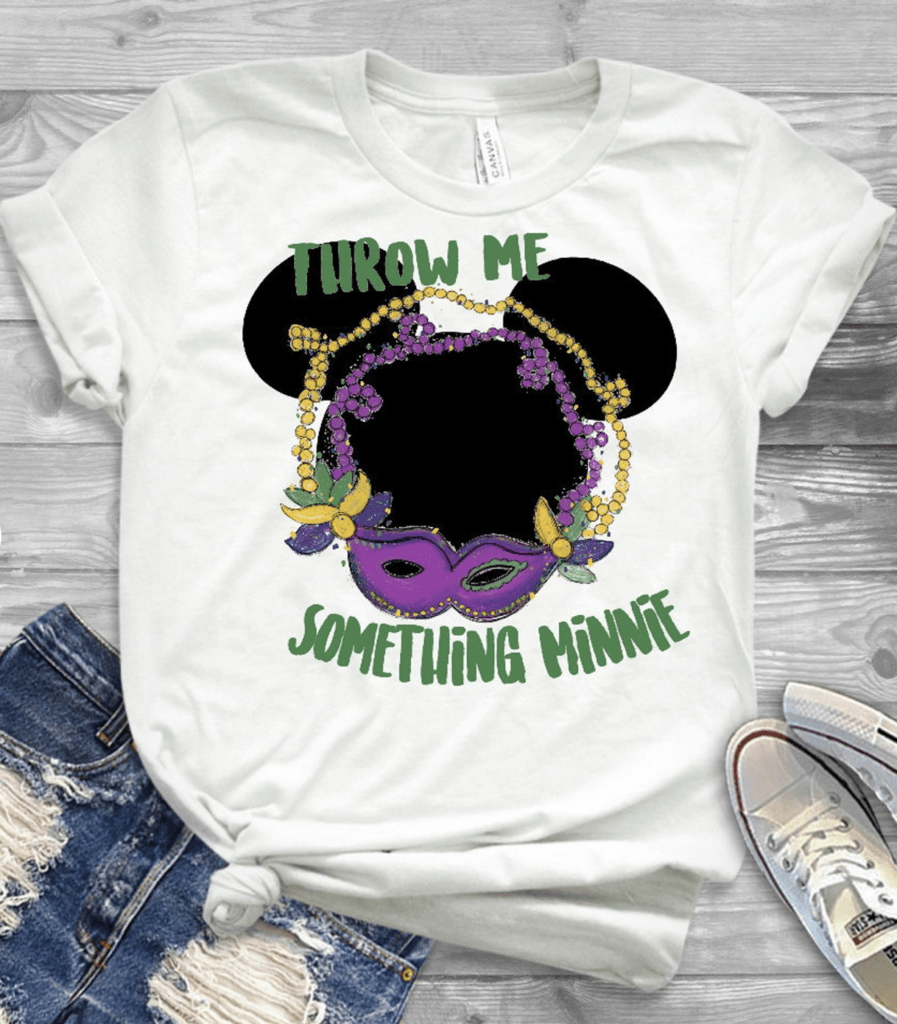 throw me something Minnie Mouse Disney Mardi Gras t-shirt